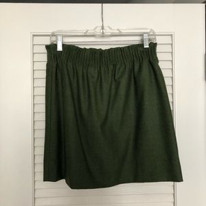 JCrew green wool skirt
